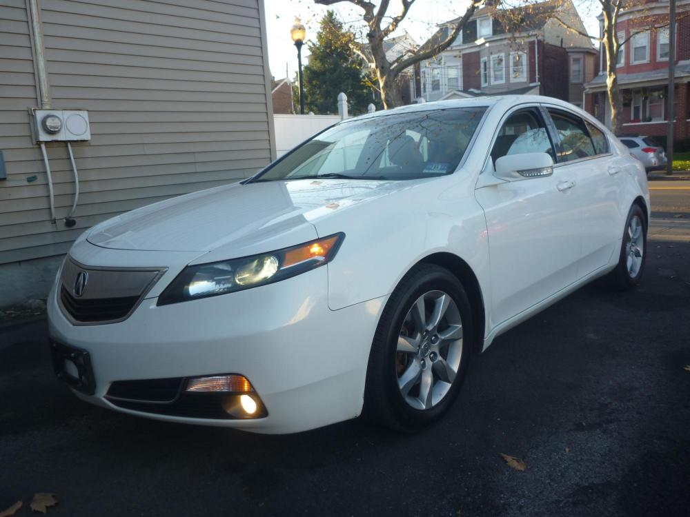 2012 WHITE /TAN LEATHER Acura TL 6-Speed AT with Tech Package and 18-In. WP (19UUA8F58CA) with an 3.5L V6 SOHC 24V engine, 6-Speed Automatic transmission, located at 1018 Brunswick Ave, Trenton, NJ, 08638, (609) 989-0900, 40.240086, -74.748085 - Photo #0