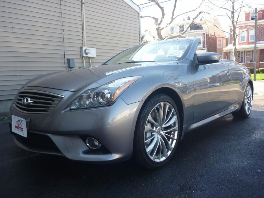 2012 GRAY /GREY LEATHER Infiniti G Convertible Base (JN1CV6FE5CM) with an 3.7L V6 DOHC 24V engine, 5-Speed Automatic transmission, located at 1018 Brunswick Ave, Trenton, NJ, 08638, (609) 989-0900, 40.240086, -74.748085 - Photo #0